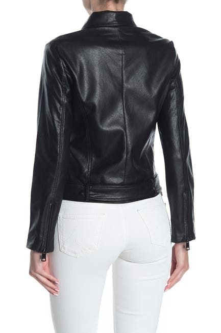 Image of Elodie Faux Leather Moto Jacket