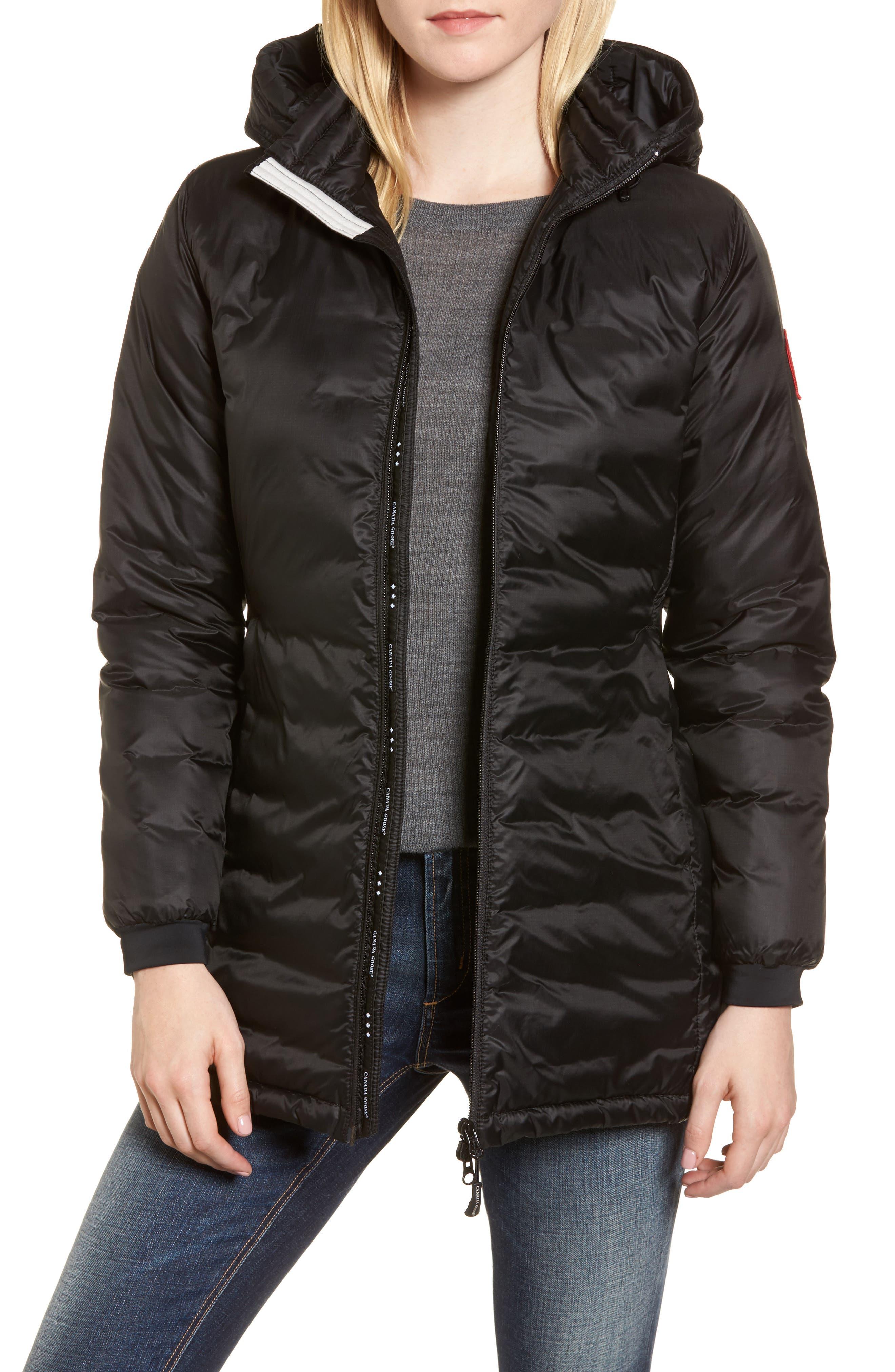 Petite Canada Goose Camp Fusion Fit Packable Down Jacket, P (10-12P) - Black