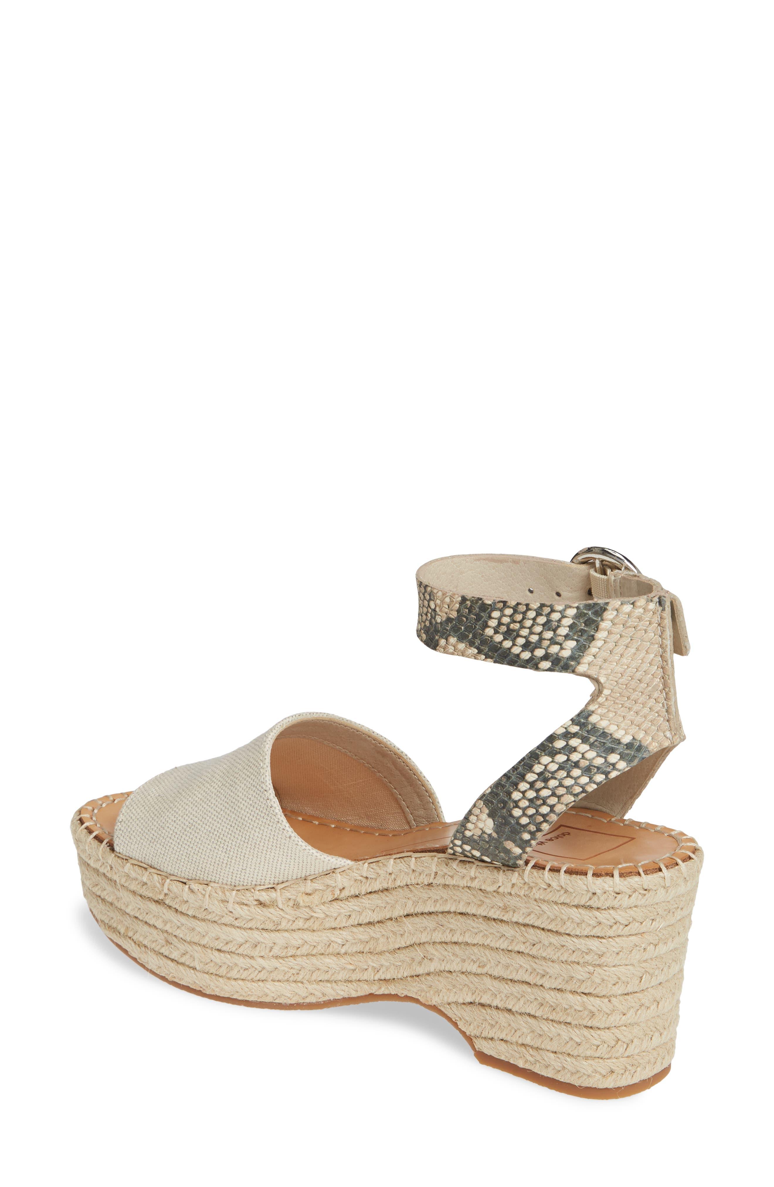 ,                             Lesly Espadrille Platform Sandal,                             Alternate thumbnail 2, color,                             NATURAL FABRIC