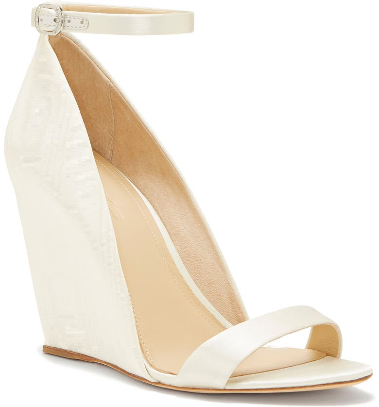 IMAGINE BY VINCE CAMUTO Imagine Vince Camuto Lessli Wedge Sandal, Main, color, IVORY SATIN