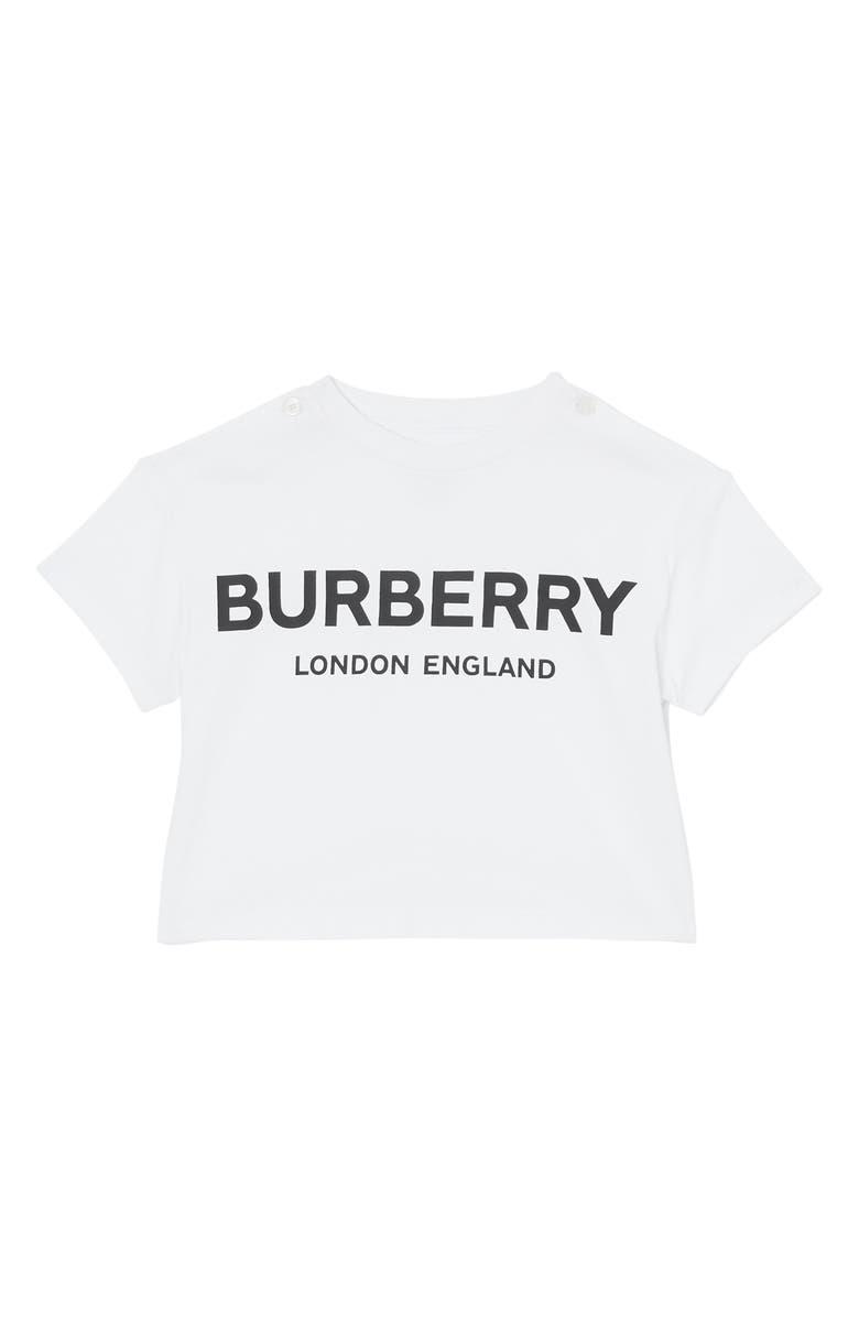 BURBERRY Mini Robbie T-Shirt, Main, color, WHITE