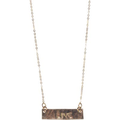 Nashelle 14K Gold Fill Short Bar Pendant Necklace