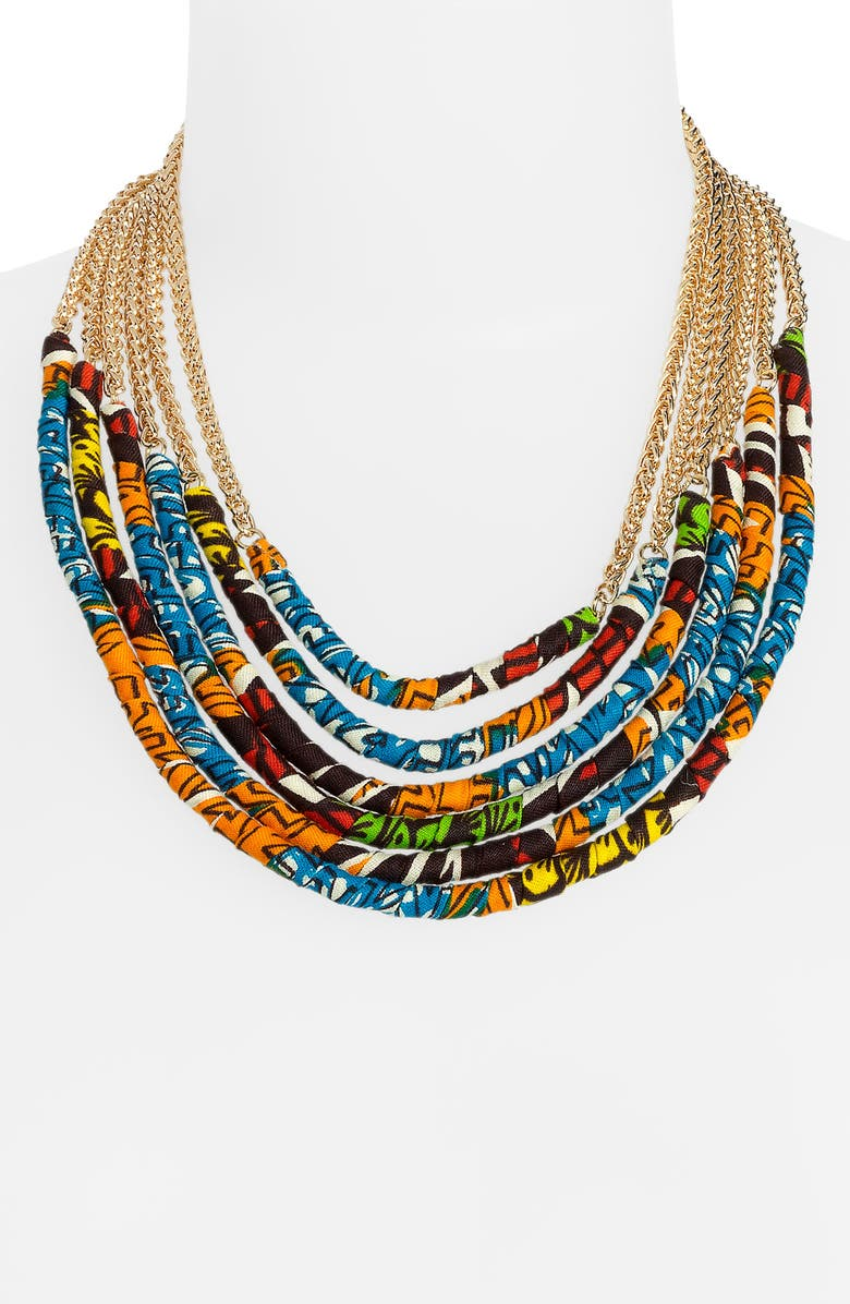 CARA Couture 'Tribal' Multistrand Necklace, Main, color, 972