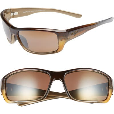 Maui Jim Barrier Reef 62Mm Polarizedplus2 Sunglasses - Brown Gold/ Bronze