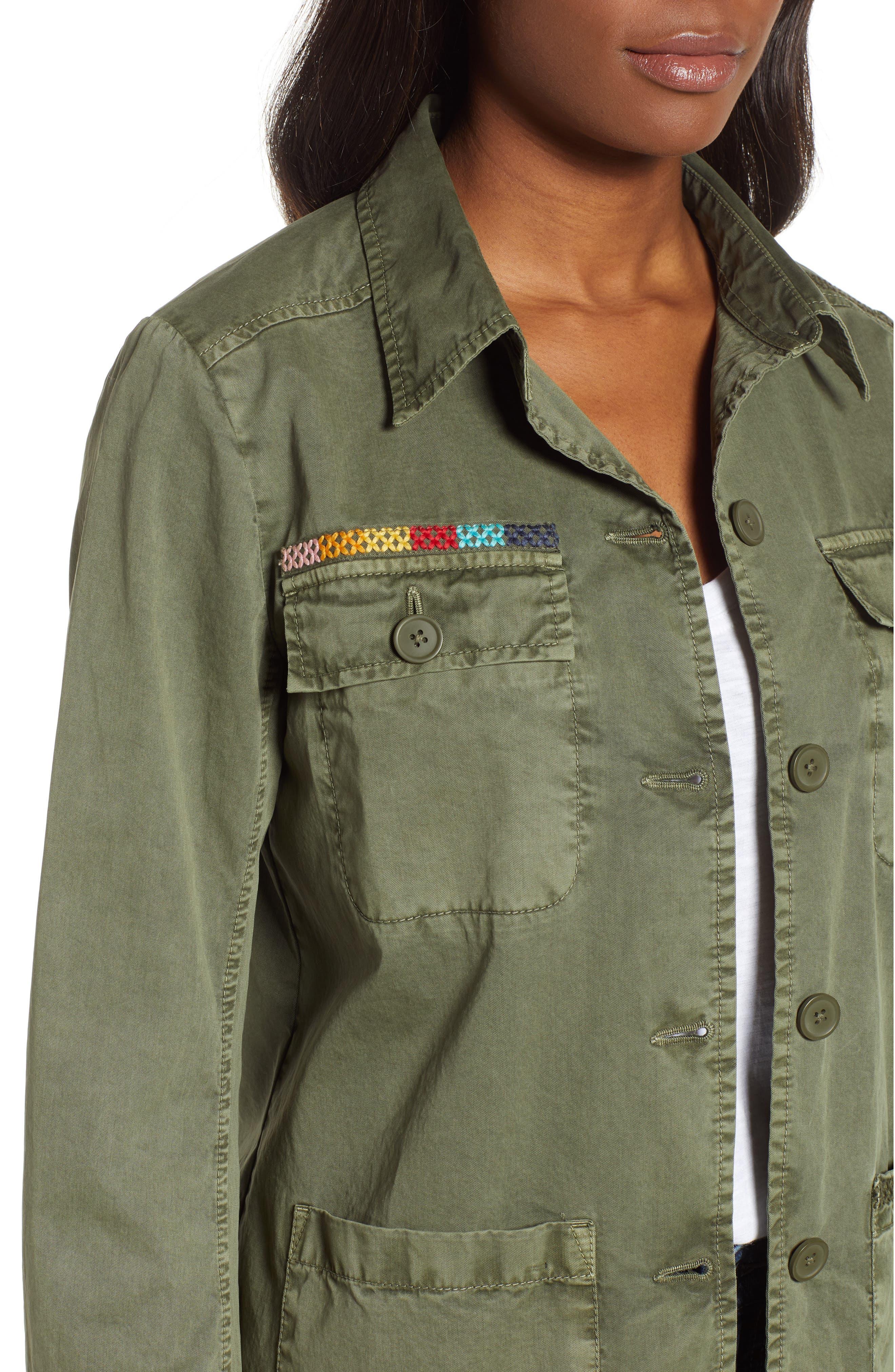,                             Utility Jacket,                             Alternate thumbnail 5, color,                             GREEN BEETLE