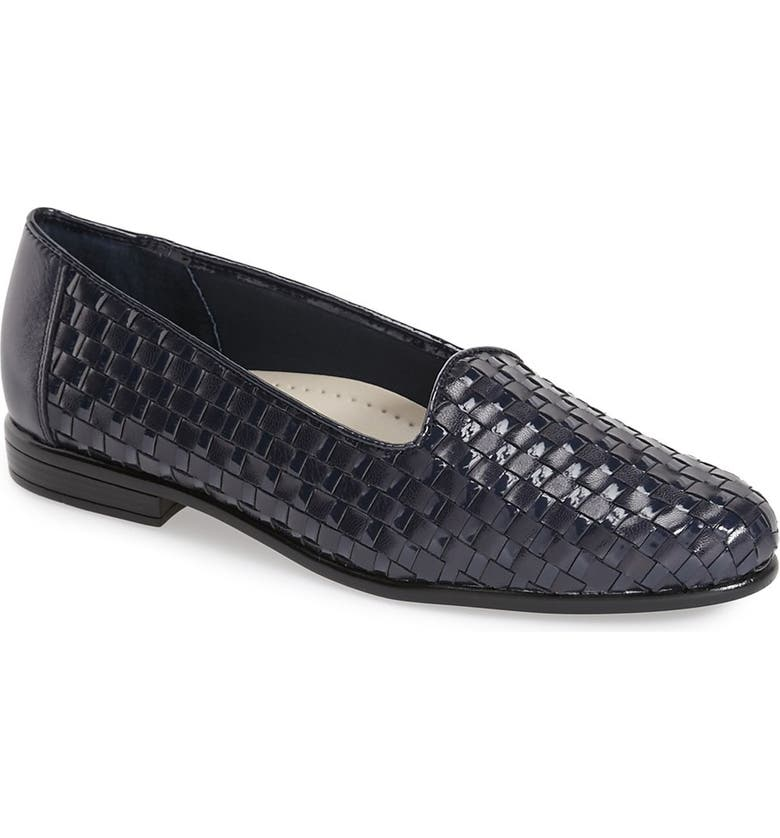 TROTTERS Slip-On, Main, color, NAVY LEATHER/ NAVY PATENT