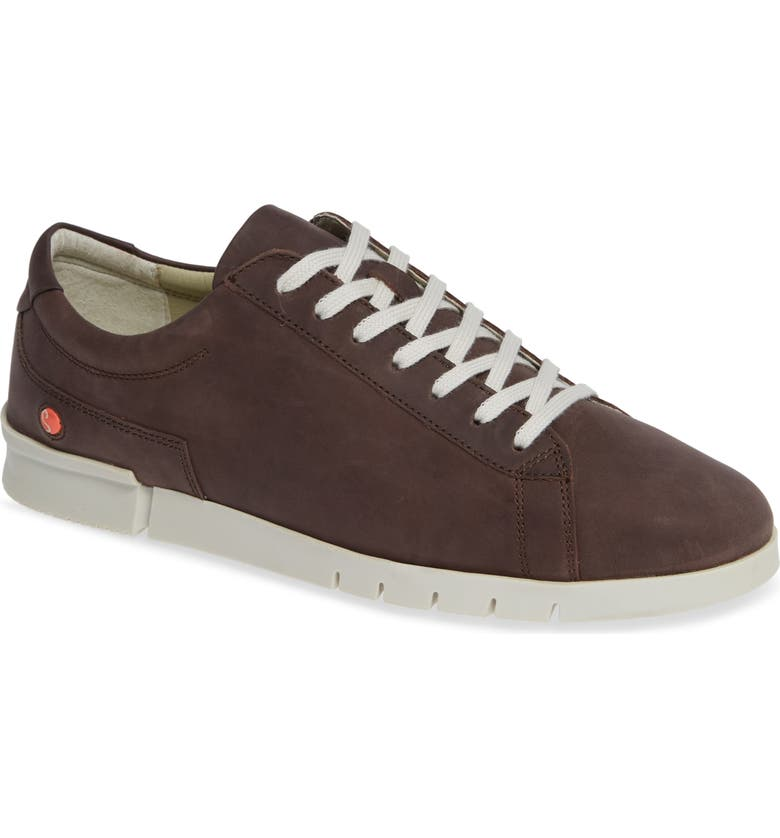 SOFTINOS BY FLY LONDON Cer Low-Top Sneaker, Main, color, MOCCA CORGI LEATHER