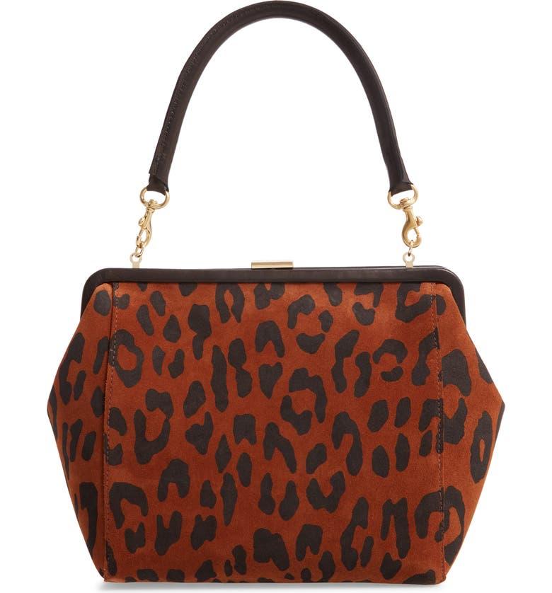 CLARE V. Le Big Suede Box Bag, Main, color, 200