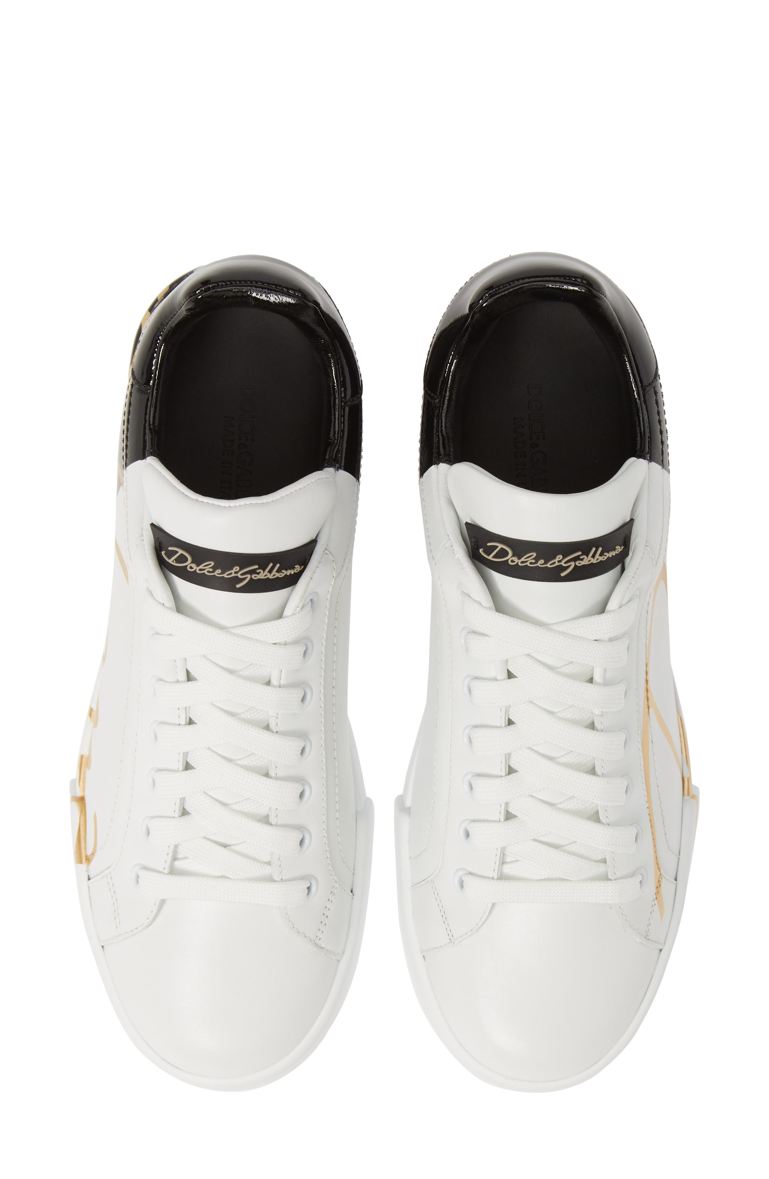 Dolce & gabbana Script Logo Sneaker - White