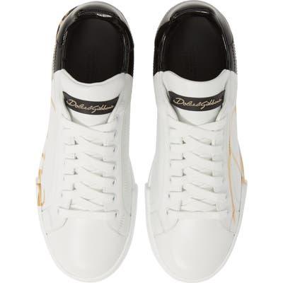 Dolce & gabbana Script Logo Sneaker, White