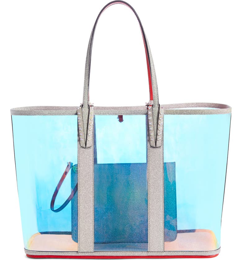 CHRISTIAN LOUBOUTIN Cabata Transparent Tote, Main, color, AB/ AB