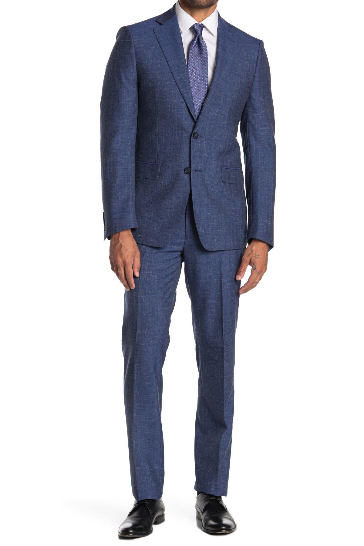 Image of Calvin Klein Plain Bright Navy Slim Suit