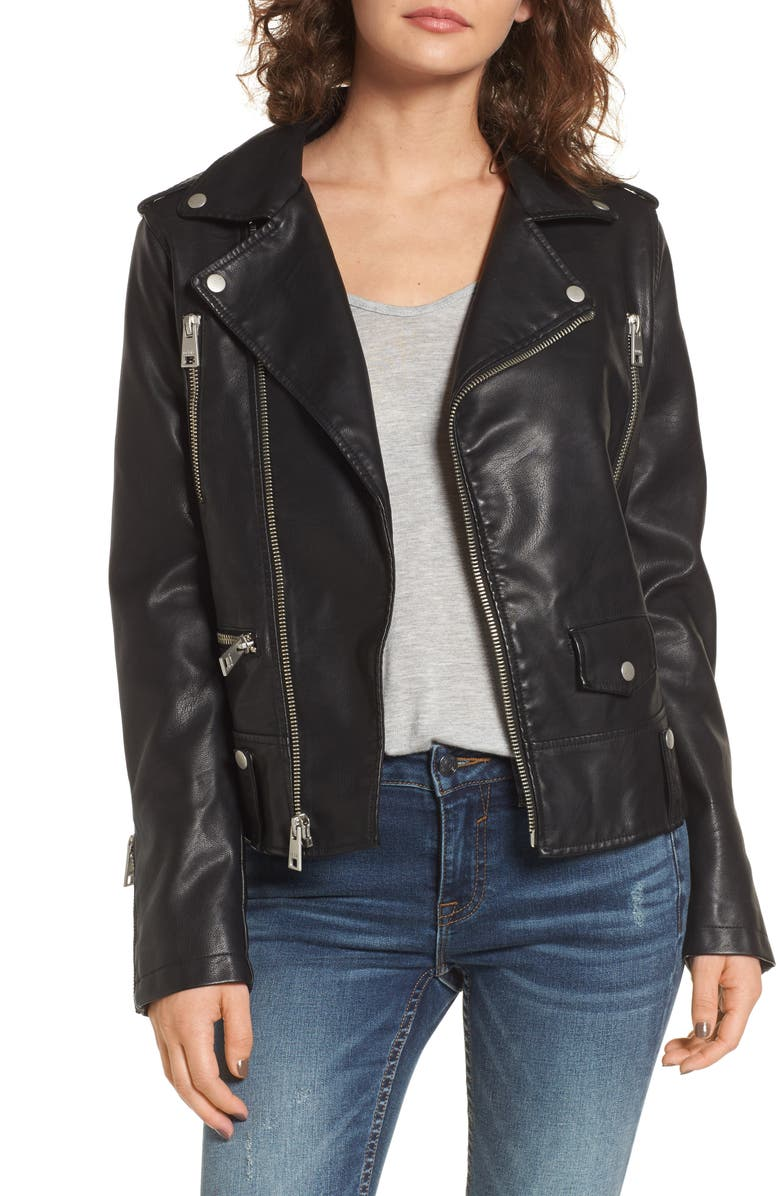 LEVI'S<SUP>®</SUP> Faux Leather Moto Jacket, Main, color, BLACK