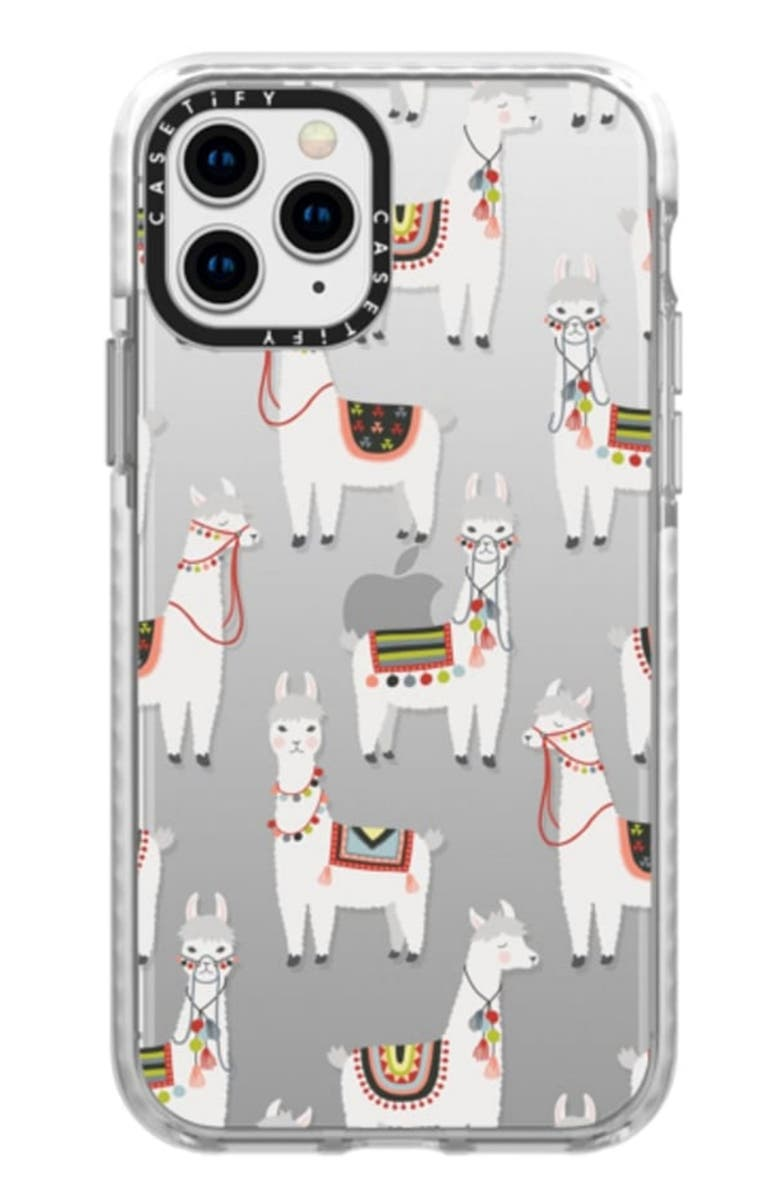CASETIFY Llama iPhone 11/11 Pro & 11 Pro Max Case, Main, color, CLEAR