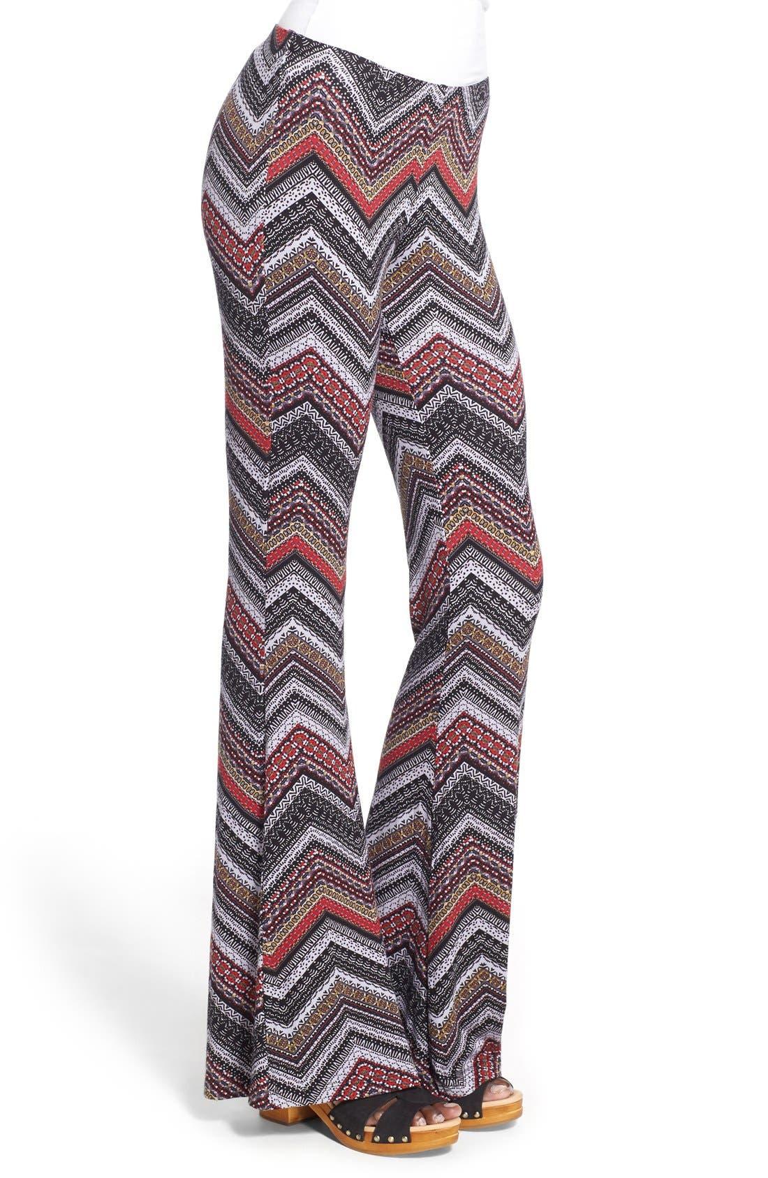 ,                             Mixed Print Flare Leg Pants,                             Alternate thumbnail 56, color,                             086