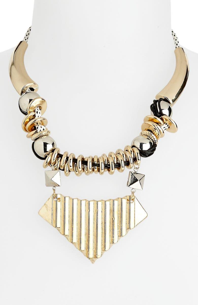 TOPSHOP 'Thread Loop' Collar Necklace, Main, color, 002