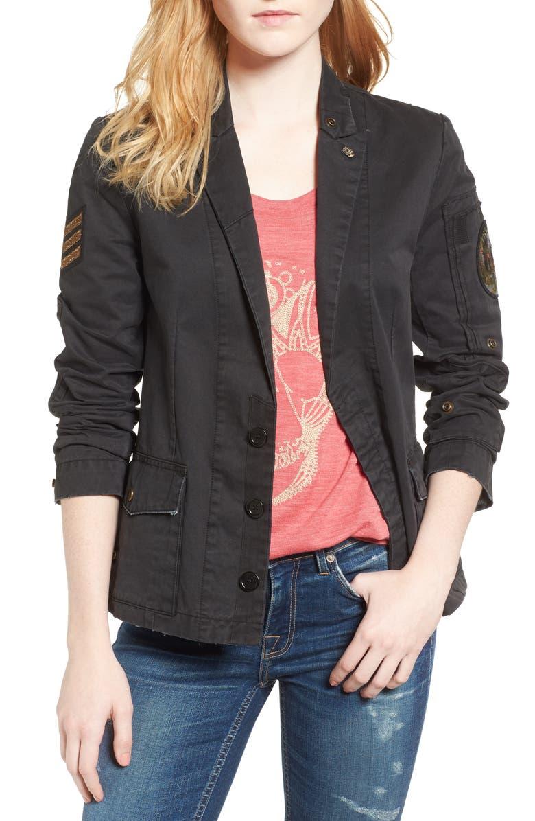 ZADIG & VOLTAIRE Virginia Jacket, Main, color, BLACK