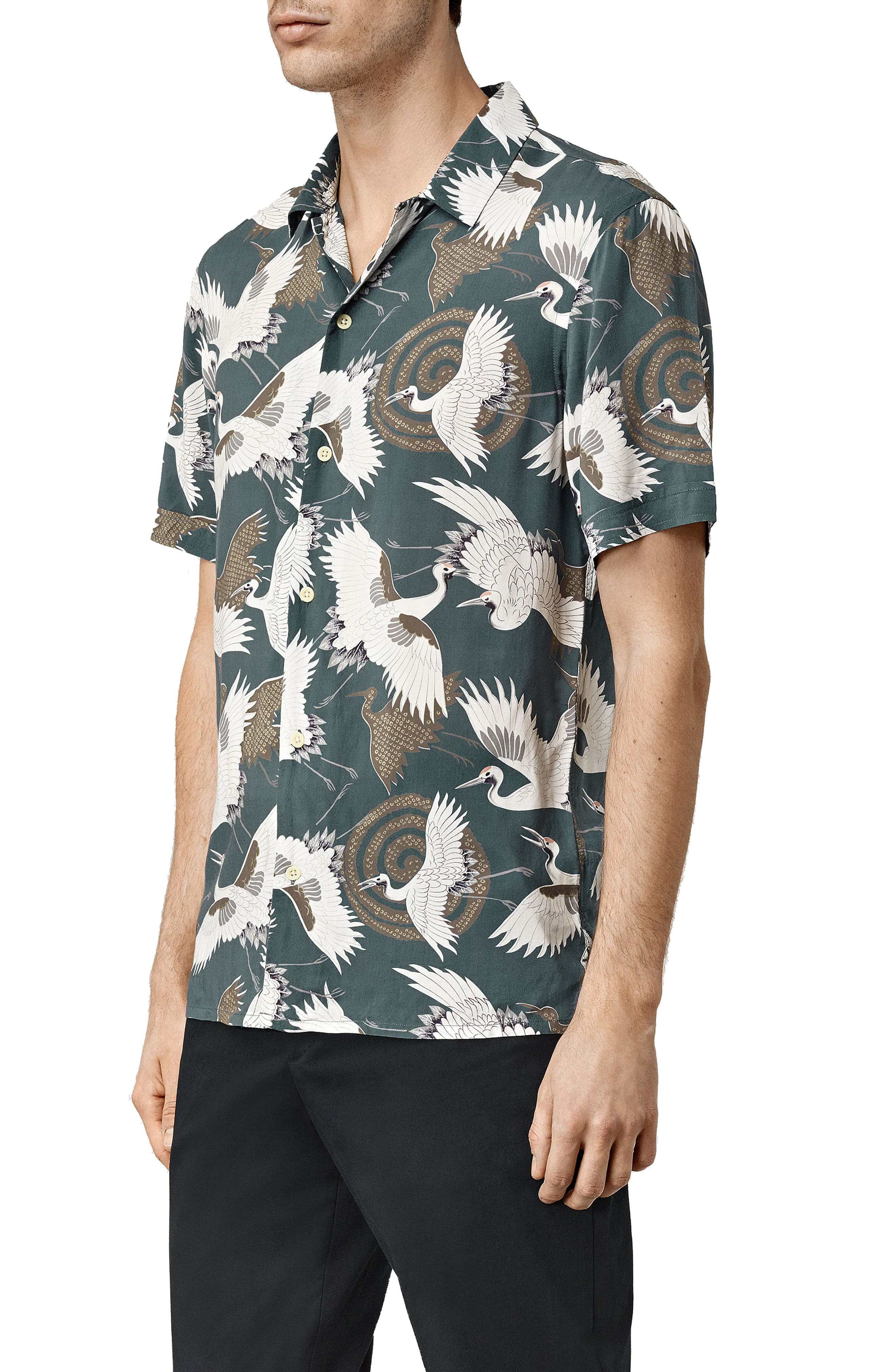 ,                             Tsuru Slim Fit Short Sleeve Sport Shirt,                             Alternate thumbnail 4, color,                             BLUE