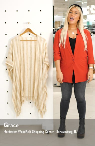 Stripe Open Front Cardigan, sales video thumbnail