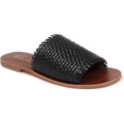 Splendid Truth Woven Slide Sandal, Black
