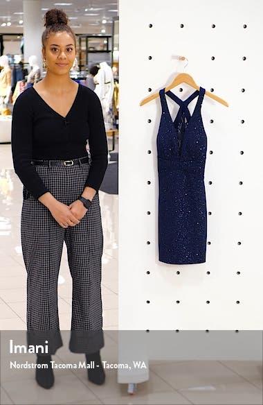 Illusion Lace Shimmer Minidress, sales video thumbnail