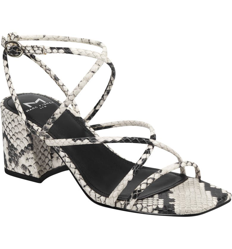 MARC FISHER LTD Nakita Sandal, Main, color, GREY SNAKE PRINT