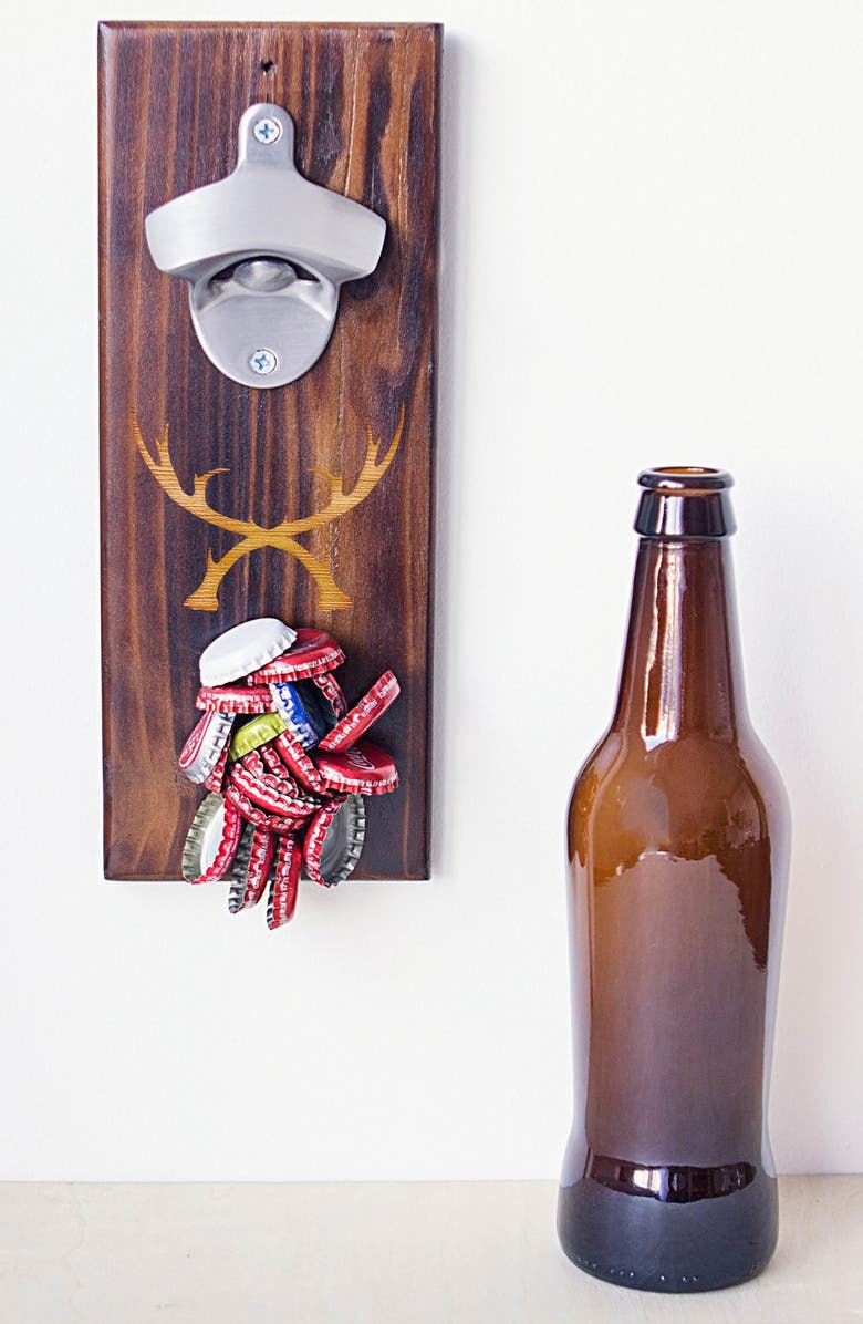 CATHY'S CONCEPTS 'Rustic Antler' Wall Mount Bottle Opener, Main, color, 200