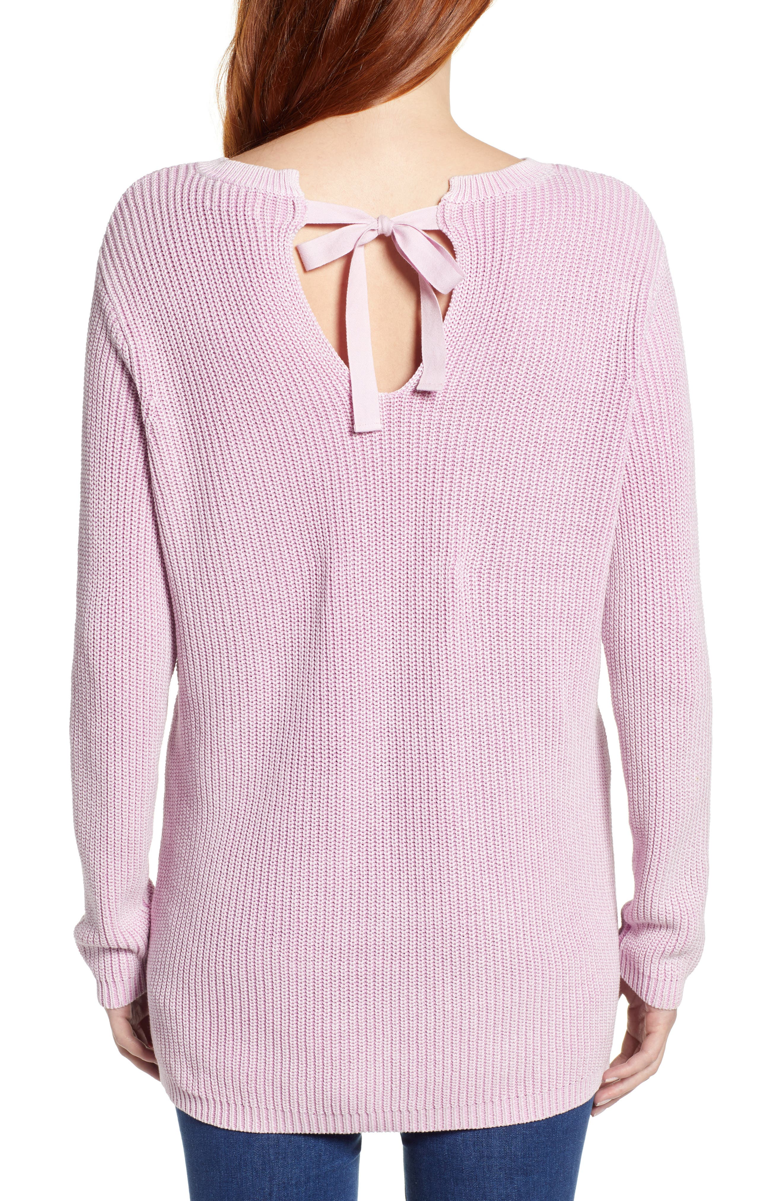 ,                             Tie Back Tunic Sweater,                             Alternate thumbnail 32, color,                             650