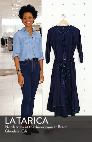 Tipped Cotton Poplin Dress, sales video thumbnail