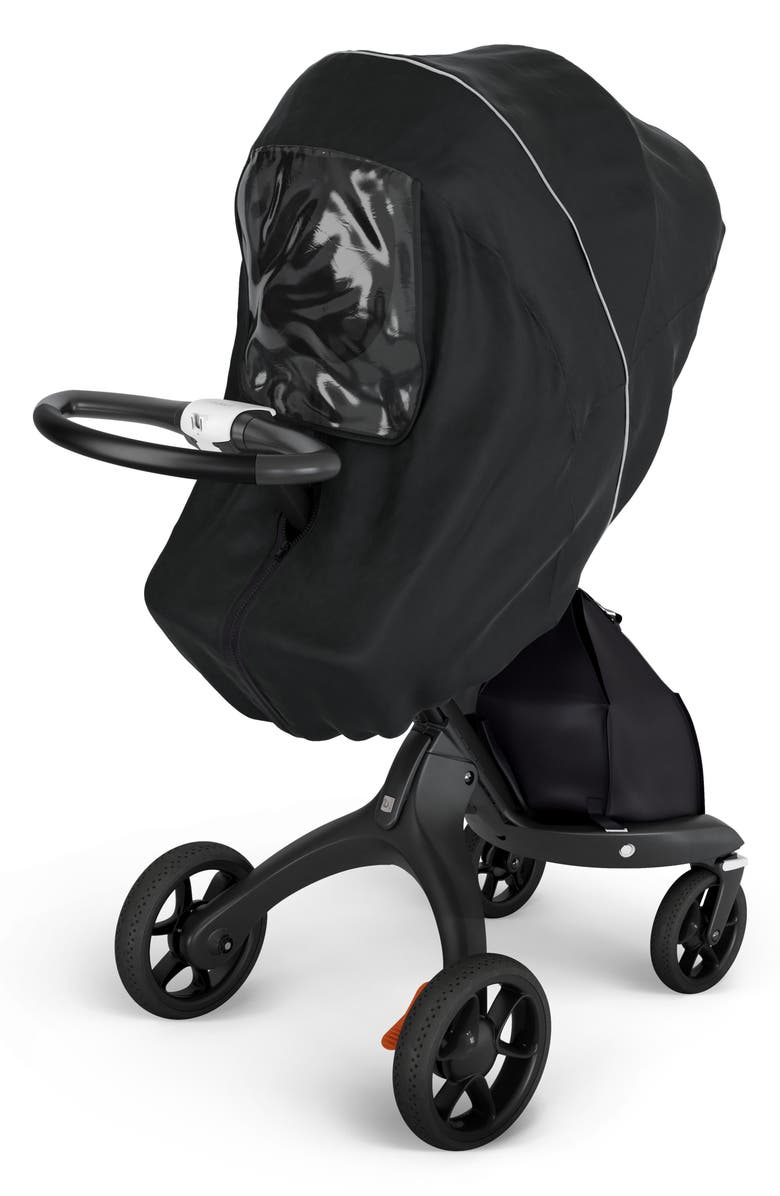 STOKKE Xplory<sup>®</sup> Stroller Rain Cover, Main, color, BLACK