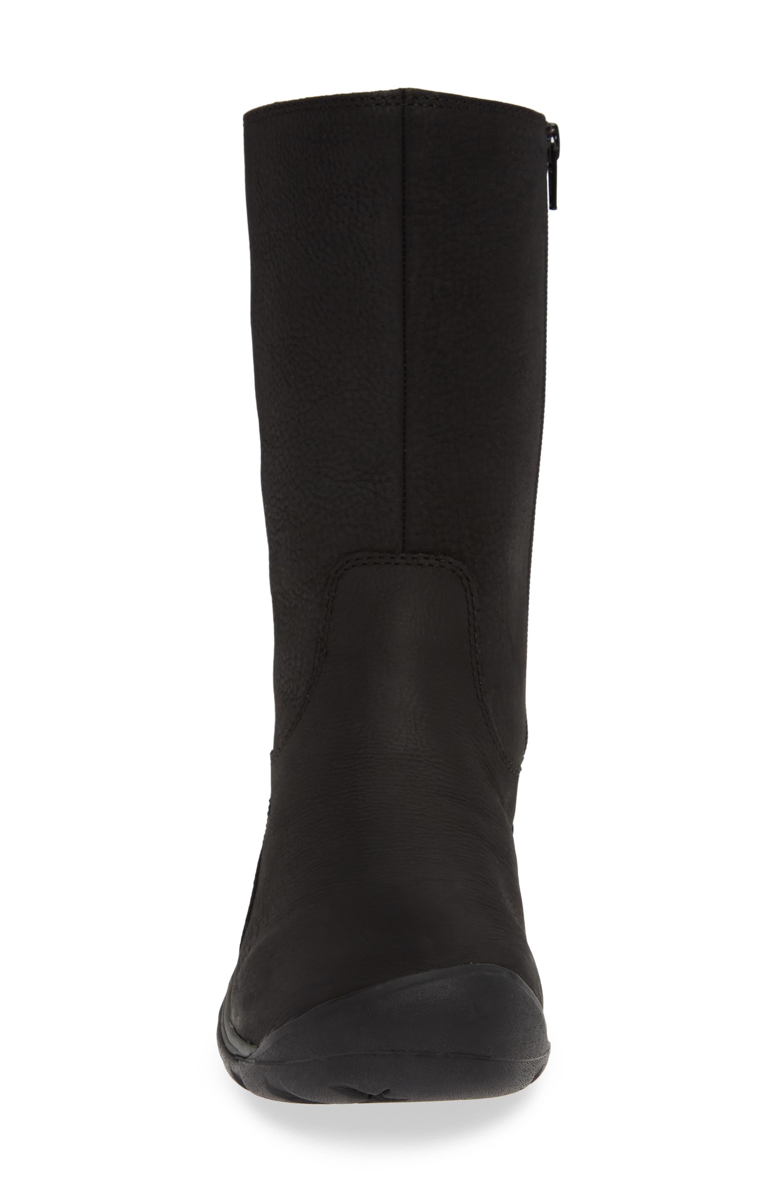 ,                             Presidio II Waterproof Boot,                             Alternate thumbnail 4, color,                             BLACK/ MAGNET LEATHER