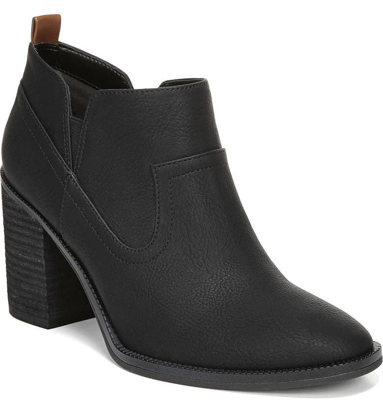 DR. SCHOLL'S Lanie Bootie, Main, color, BLACK SMOOTH FAUX LEATHER