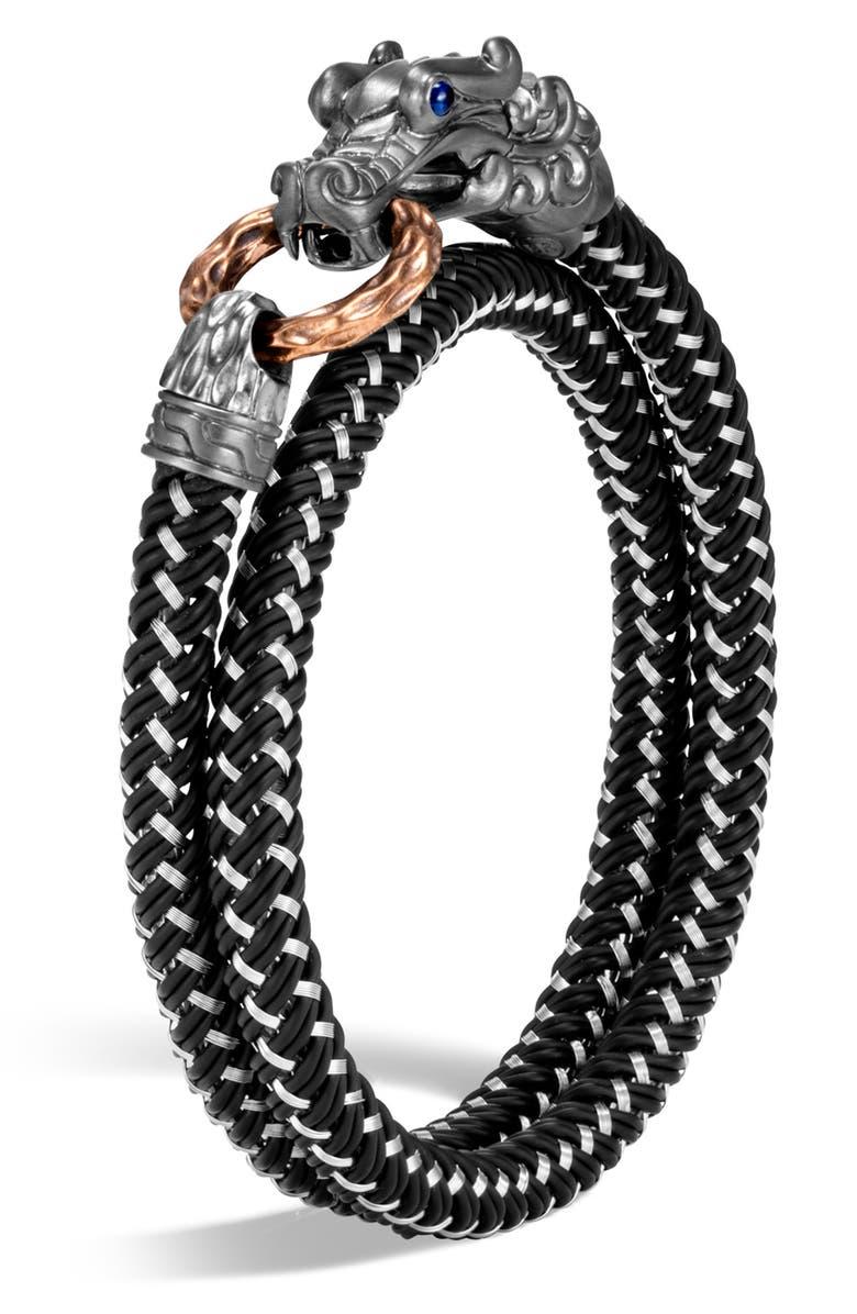 JOHN HARDY Men's Legends Naga Double Wrap Bracelet, Main, color, 001