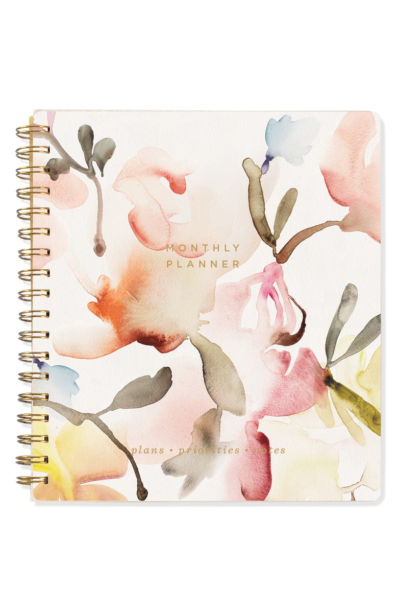 FRINGE STUDIO Monthly Perpetual Planner, Main, color, FLORAL