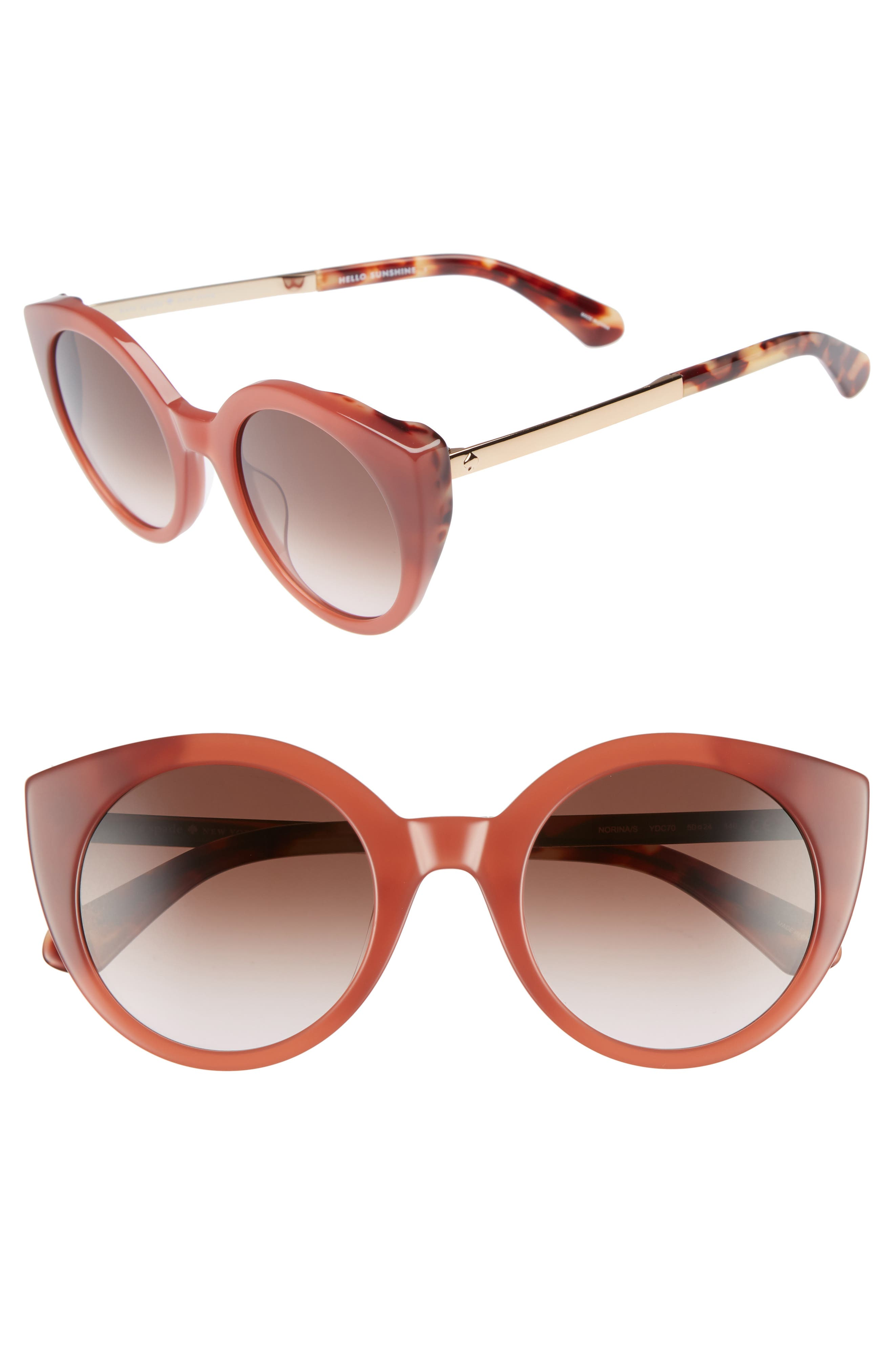 Image of kate spade new york norina 50mm cat eye sunglasses