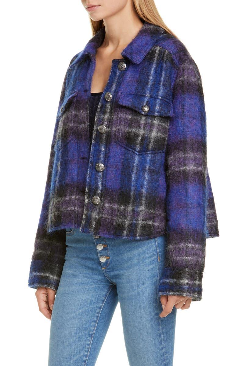 VERONICA BEARD Emmons Plaid Crop Jacket, Main, color, BLACK MULTI