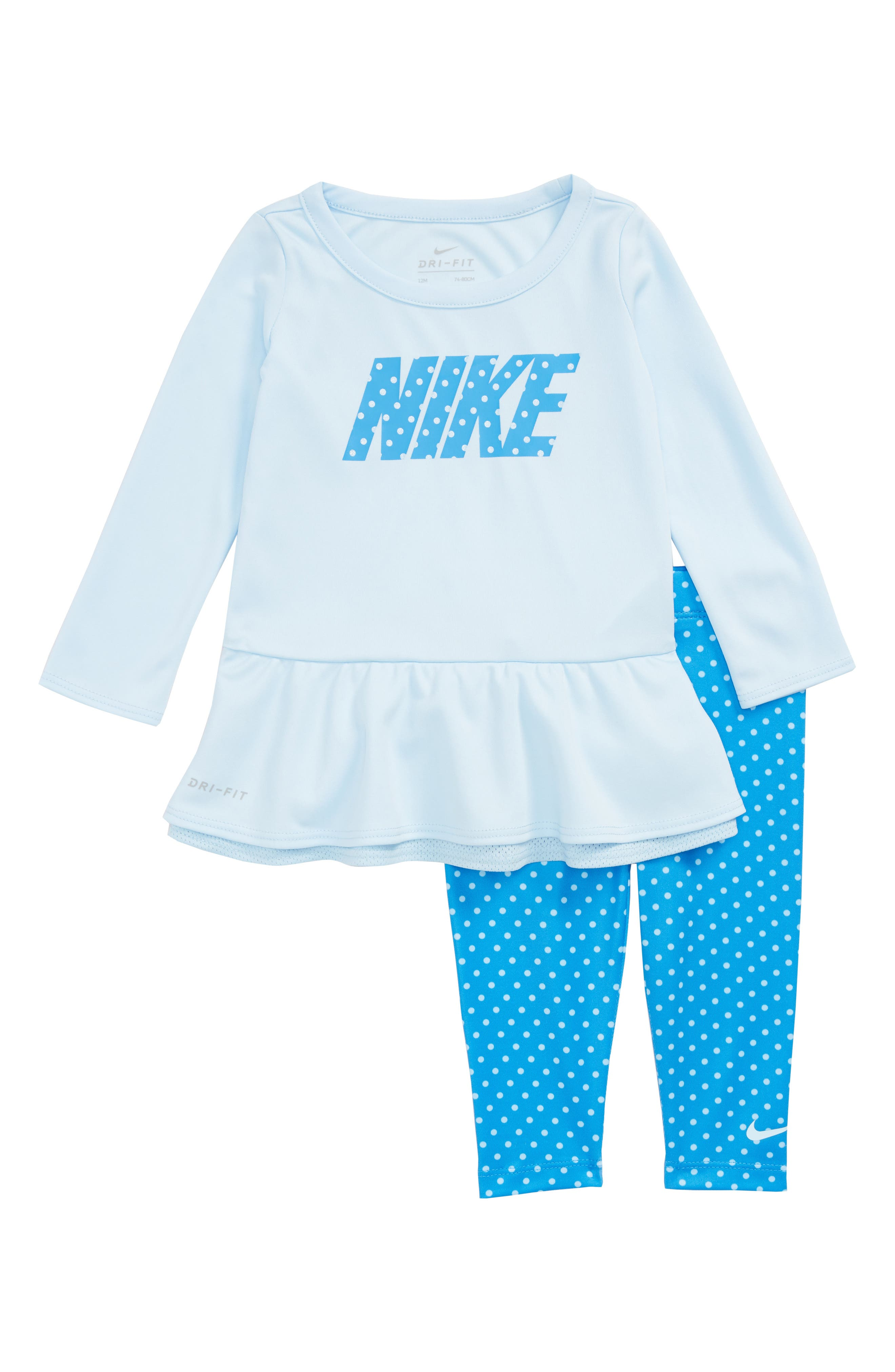 Image of Nike Dri-FIT Peplum Tunic & Leggings Set