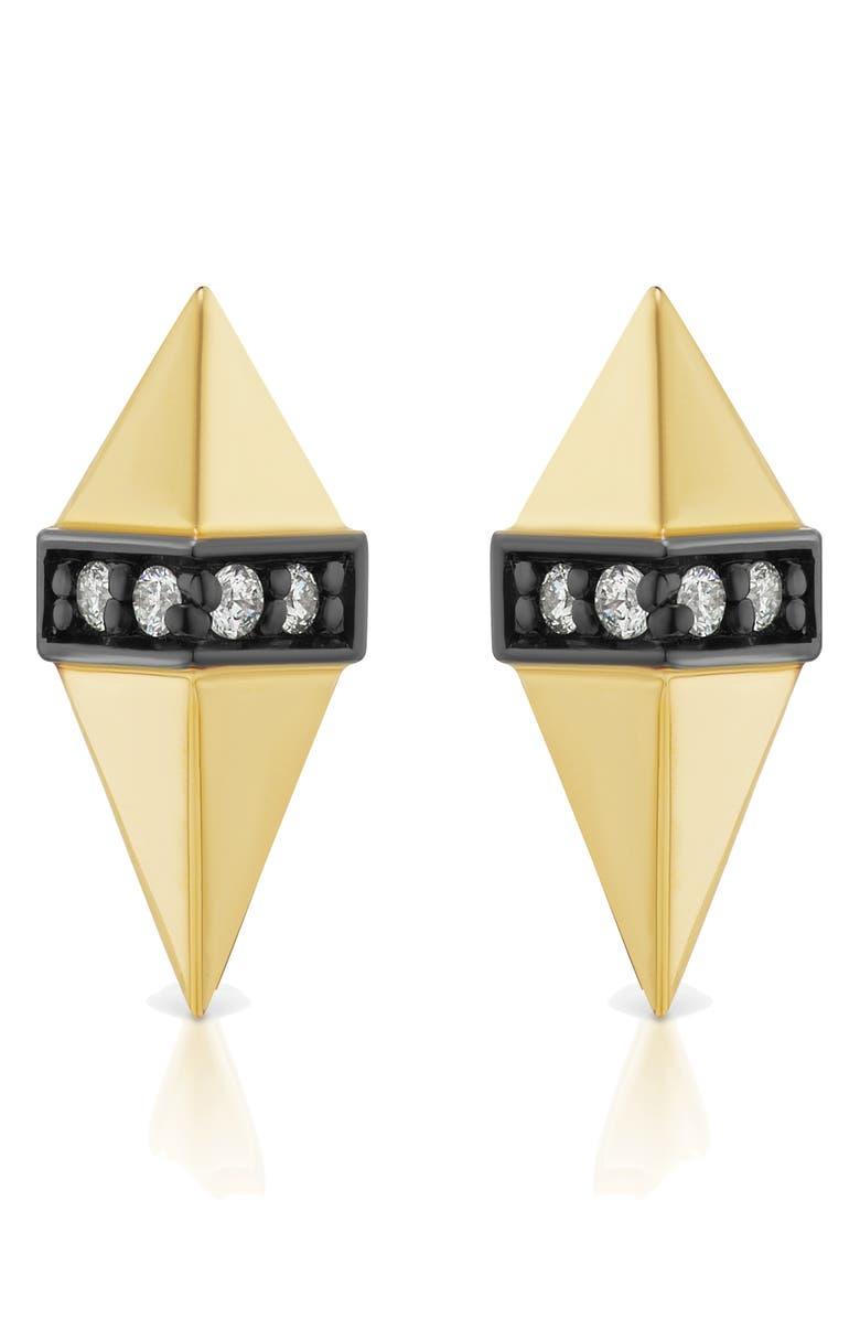 SORELLINA Pietra Diamond Stud Earrings, Main, color, 701
