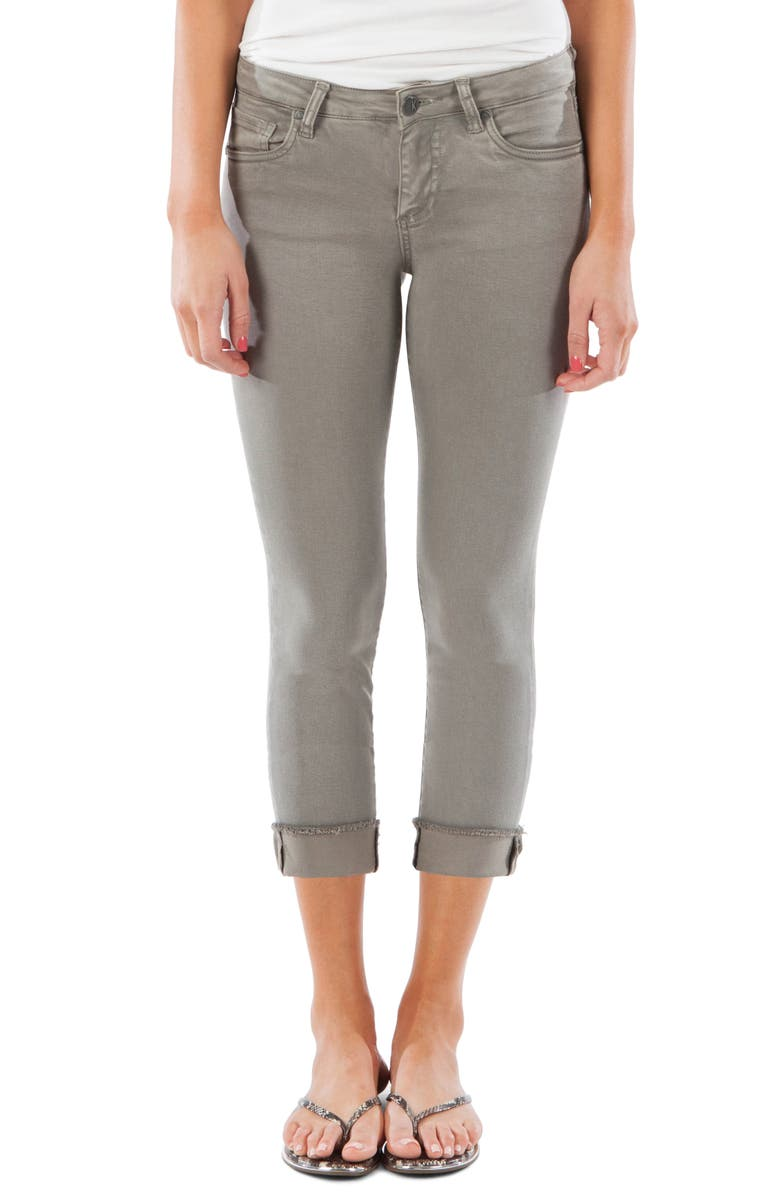 KUT From The Kloth Amy Crop Straight Leg Jeans Rose