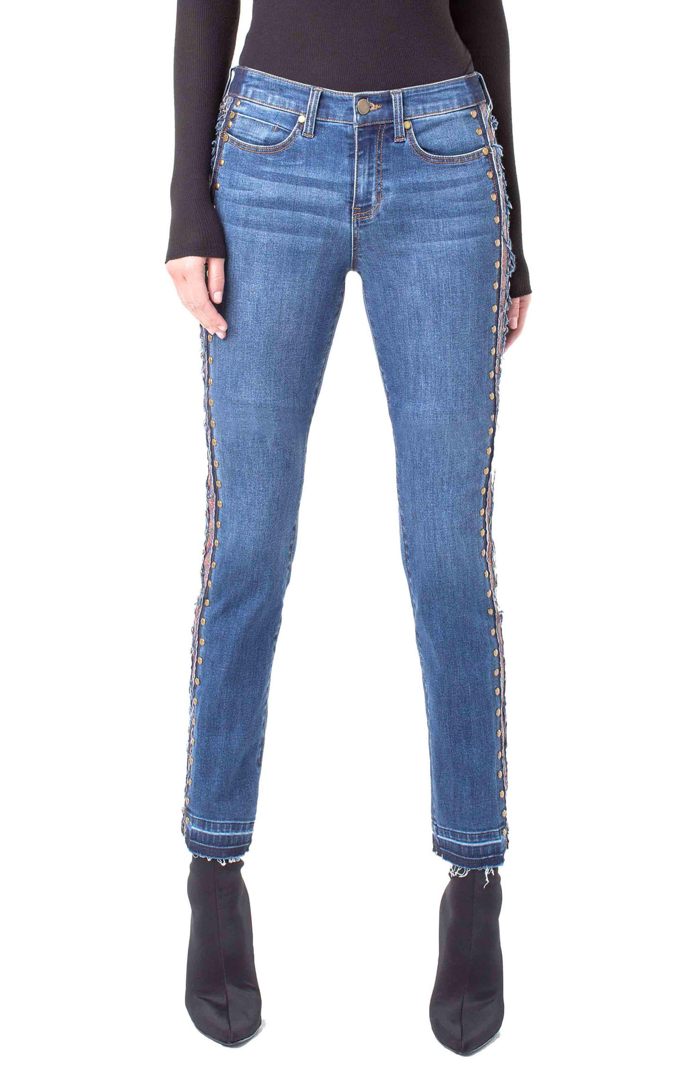 Colette Embellished Ankle Jeans, Main, color, 403