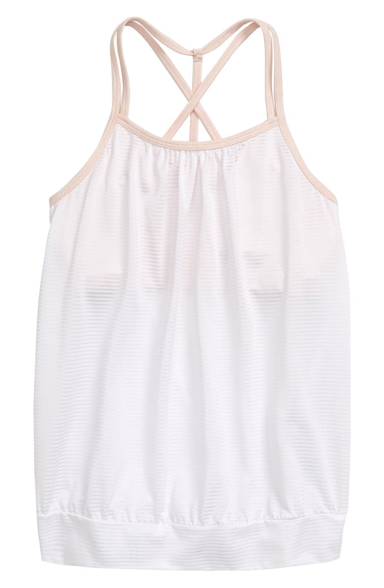 ZELLA GIRL Layered Cross Back Tank, Main, color, WHITE