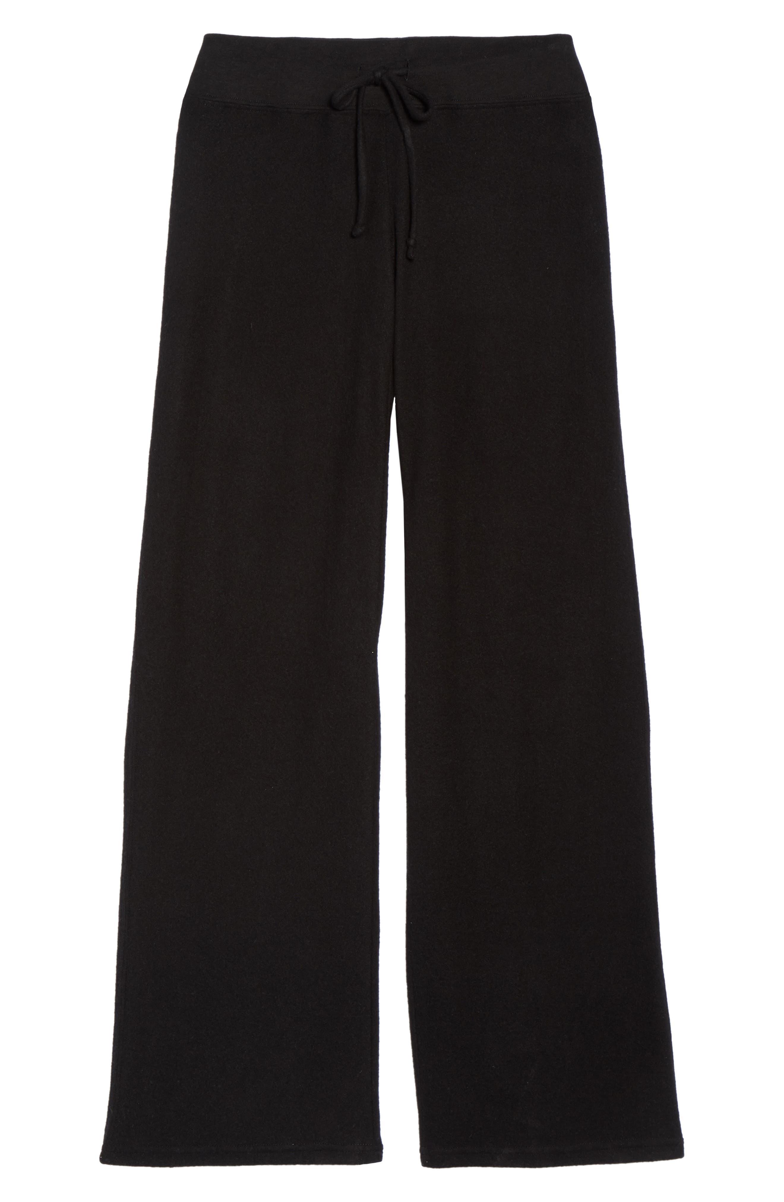 ,                             Best Boyfriend Brushed Hacci Lounge Pants,                             Alternate thumbnail 6, color,                             BLACK