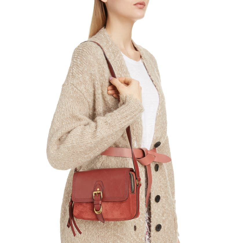 ISABEL MARANT Tinsen Shoulder Bag, Main, color, ROSEWOOD