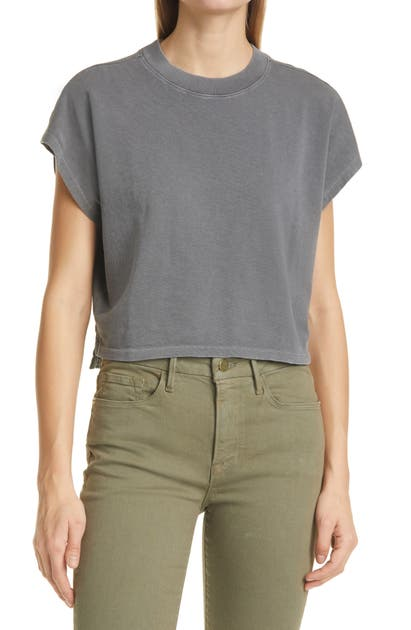 Frame OFF DUTY ORGANIC COTTON CROP T-SHIRT