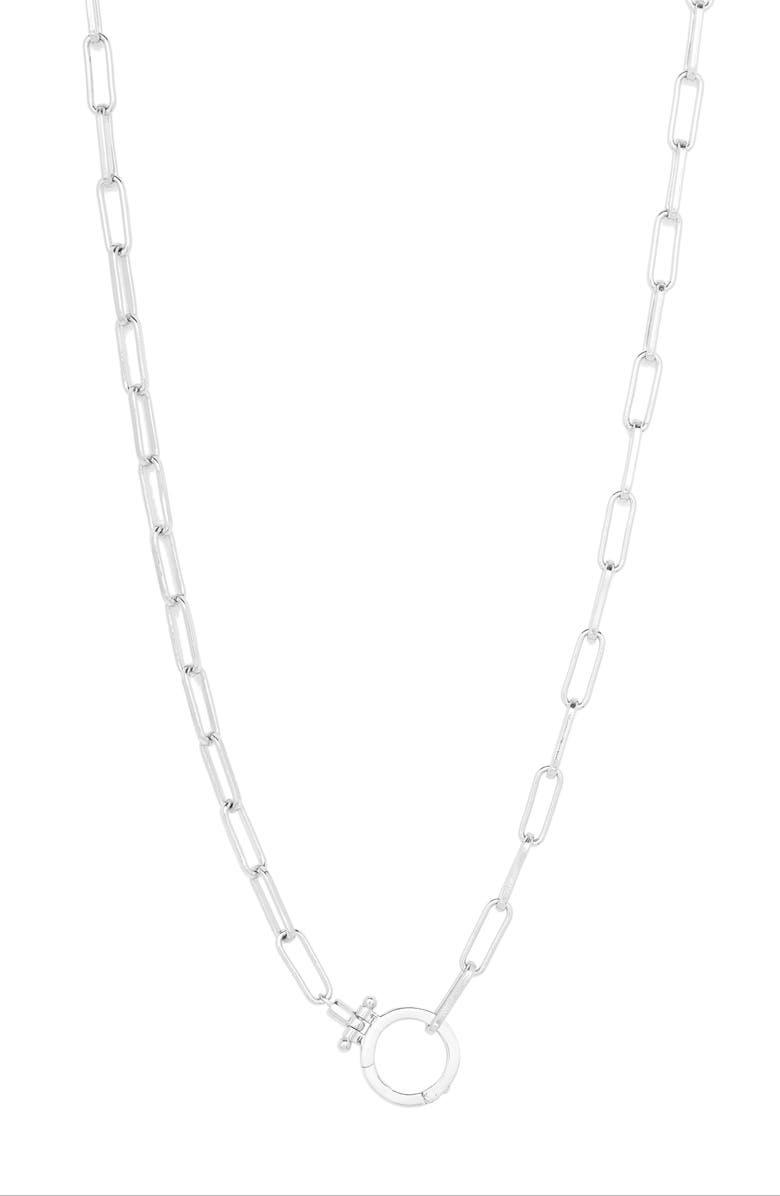 GORJANA Parker Link Collar Necklace, Main, color, SILVER