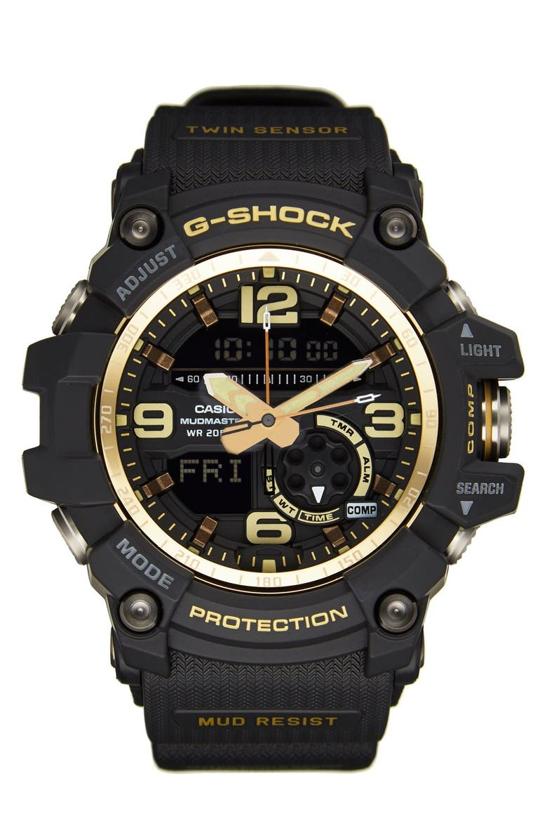 G-SHOCK BABY-G G-Shock AD Mudmaster Strap Watch, 56mm, Main, color, 001