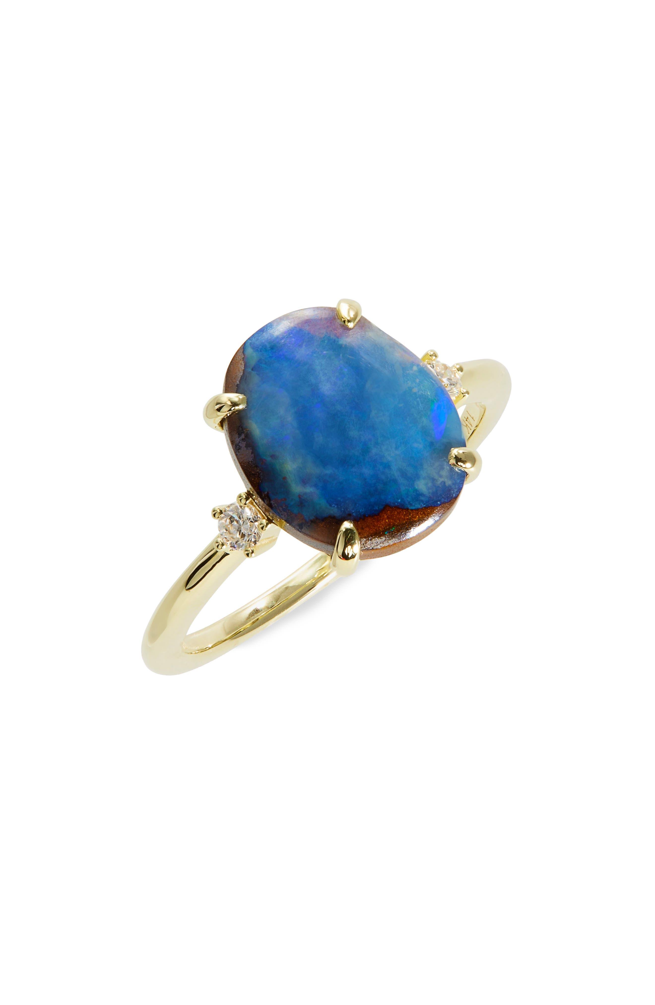 Women's Meira T Blue Opal Ring