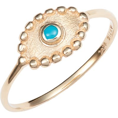Anzie Turquoise Evil Eye Ring