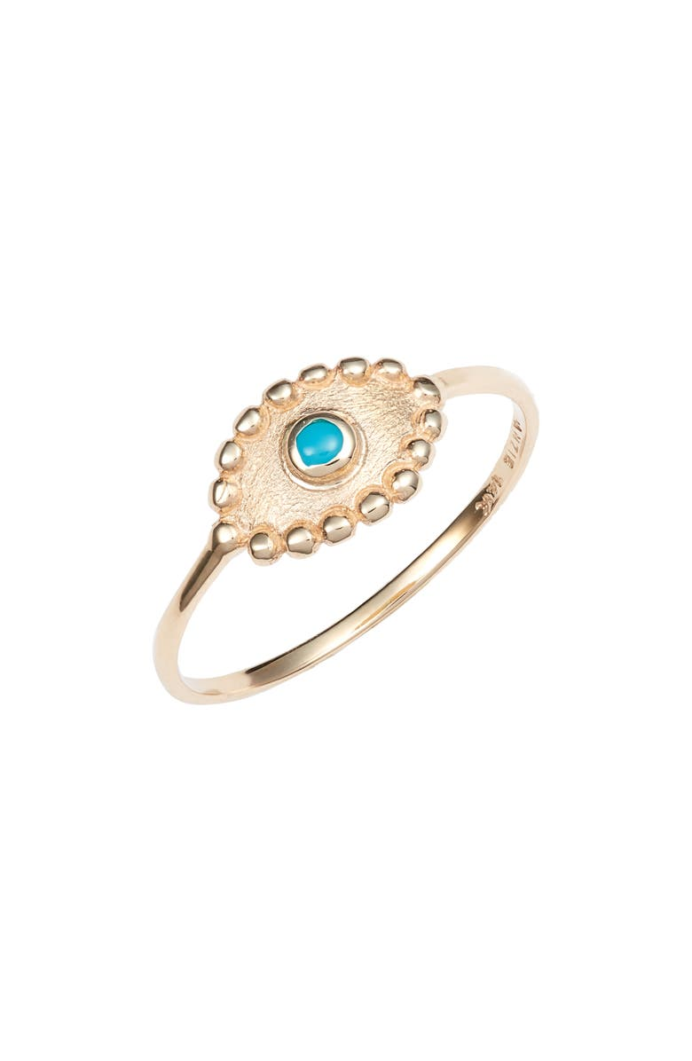 ANZIE Turquoise Evil Eye Ring, Main, color, 710
