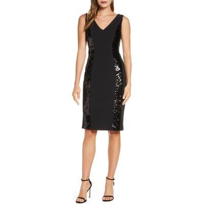 Vince Camuto Sequin Detail Cocktail Dress, Black